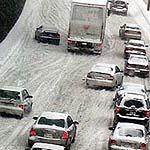 Winter Verkehr Chaos