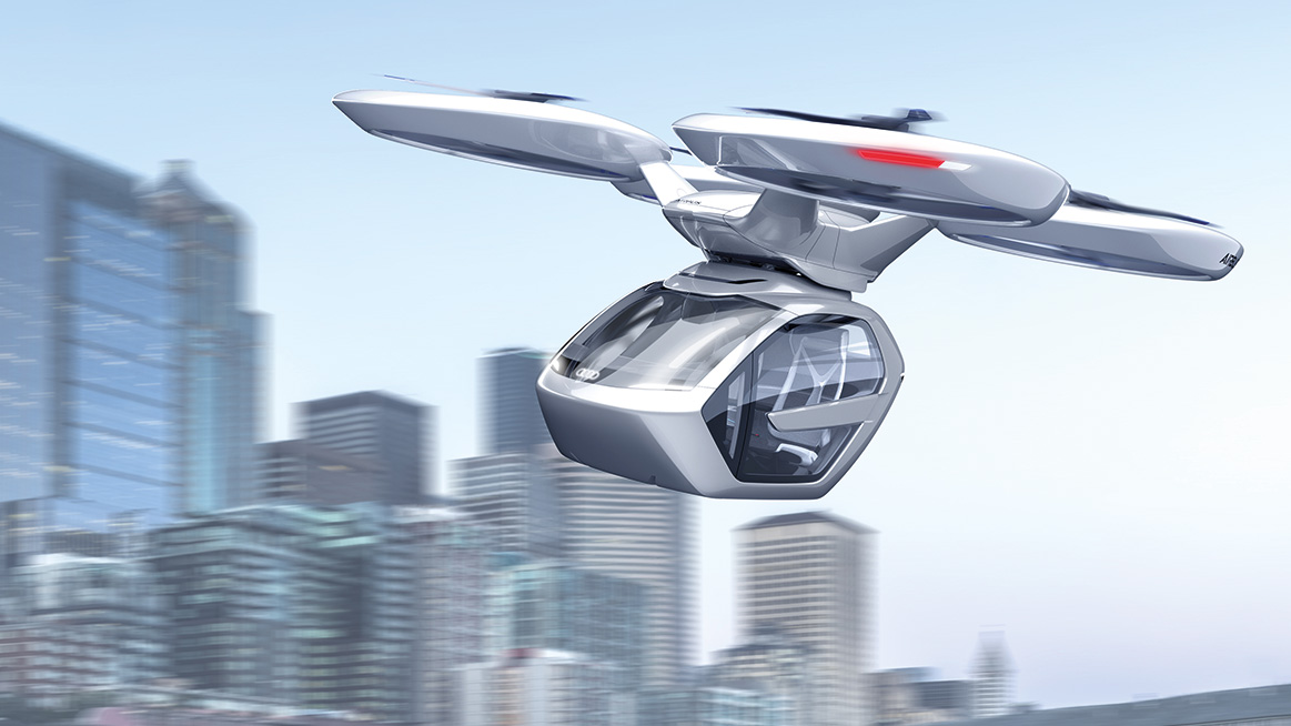 Audi flugtaxi Pop up