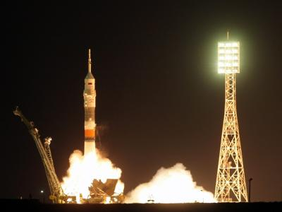 Капсула Союз стартовала с Международной космической станции