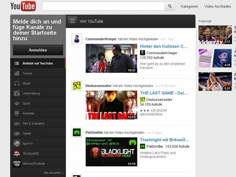 [Web-TV] Channels:  YouTube startet ersten Themen-Kanal - Comedy-Show Ponk