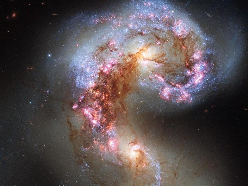 Nasa publishes HD photos of the Antennae Galaxies