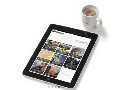 Apple iPad App Flipboard Apfel-Tablette