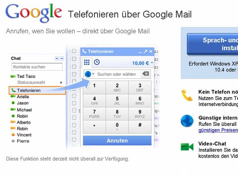 Веб-гигант Google запускает телефонную службу для фиксированных и мобильных телефонов через Gmail