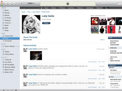apple itunes ping social network music