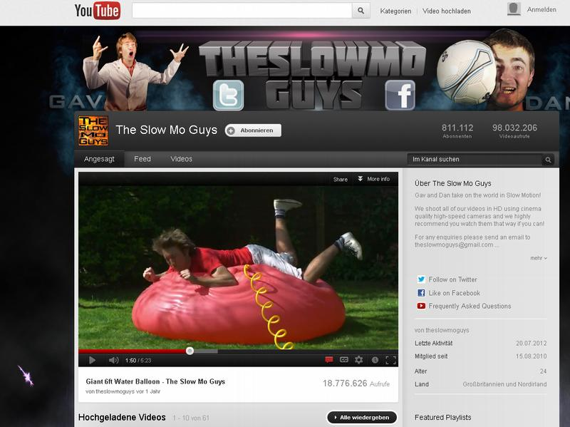 [Superzeitlupe] Web-Kult Slowmotion : Wie die Slowmo-Guys die Welt sehen (Video)