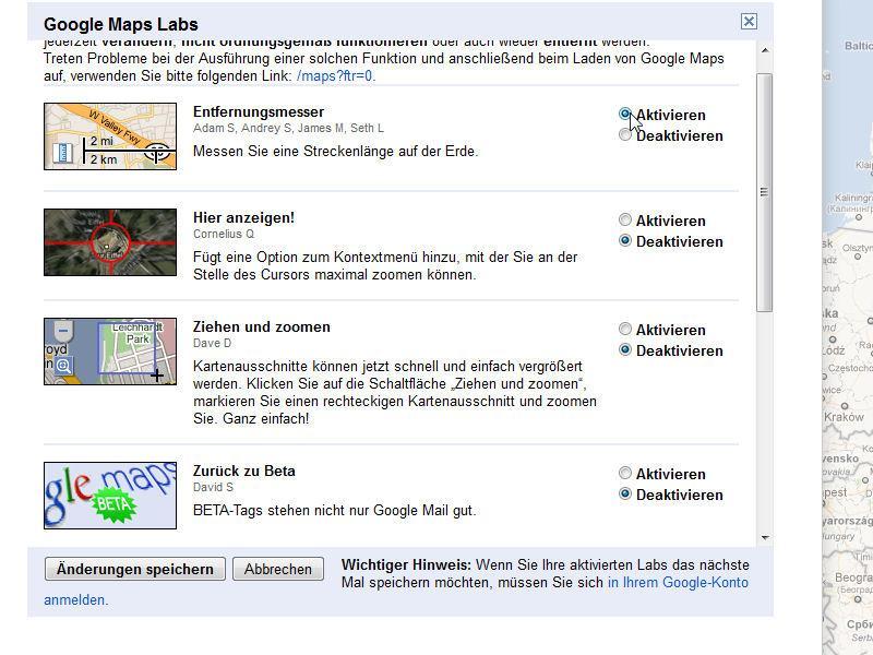 Happy Mapping: Neue Funktionen in Google Maps über Google Labs freischalten