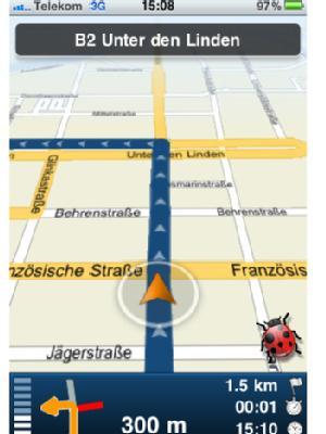 iPhone-Navi: навигатор Skobbler с картами всех стран Европы для мобильных телефонов