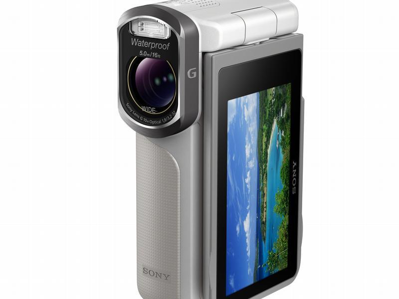 Sonys neue dünne Kamera und wasserdichter Camcorder