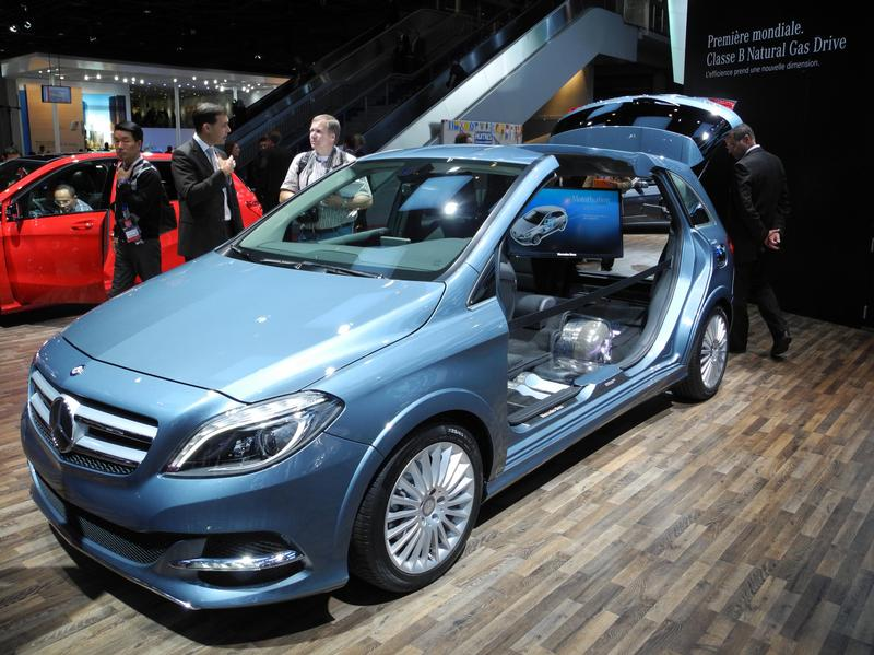 Эко-звезды на выставке в Париже - Mercedes B-Klasse Natural Gas