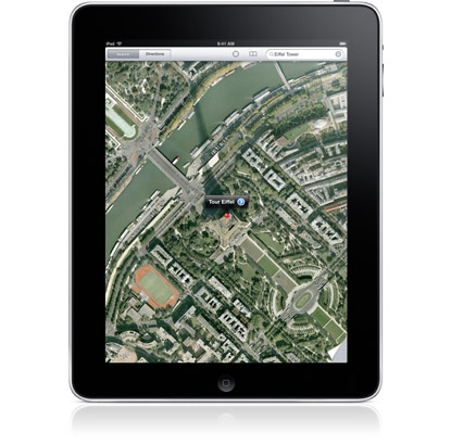 apple ipad tablet maps google-maps