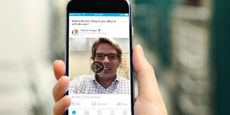 Business Netzwerk Linkedin Live-Video integriert Linkedin Live-Streaming