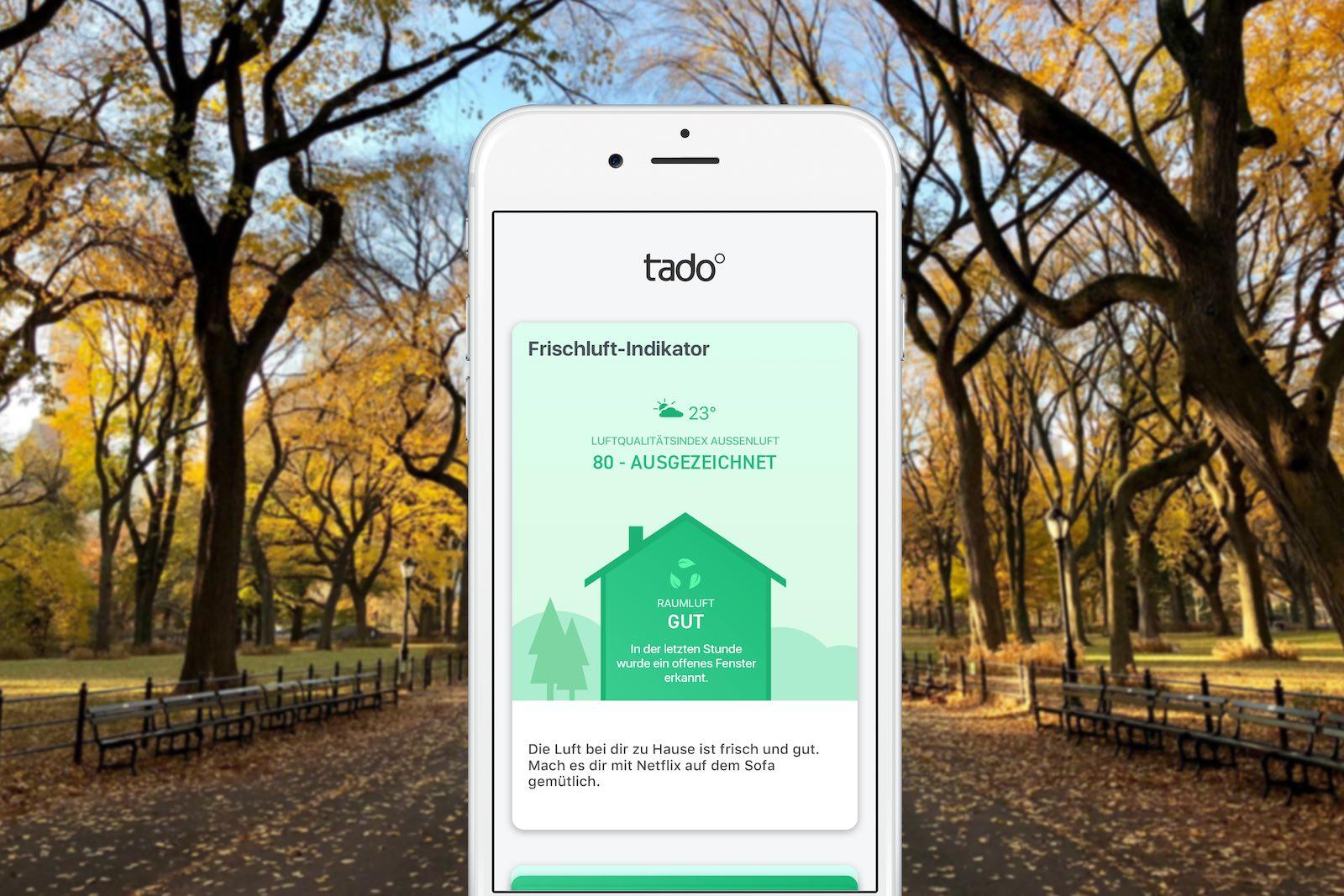 tado° App gibt Tipps für bessere Raumluft
