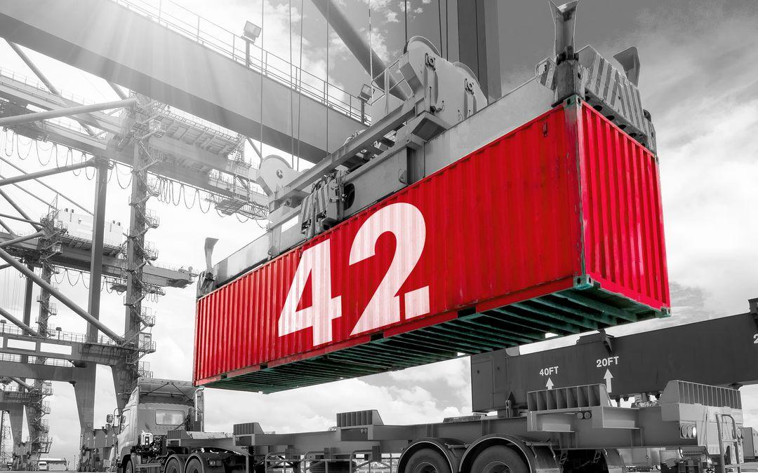 Container mit Sensoren