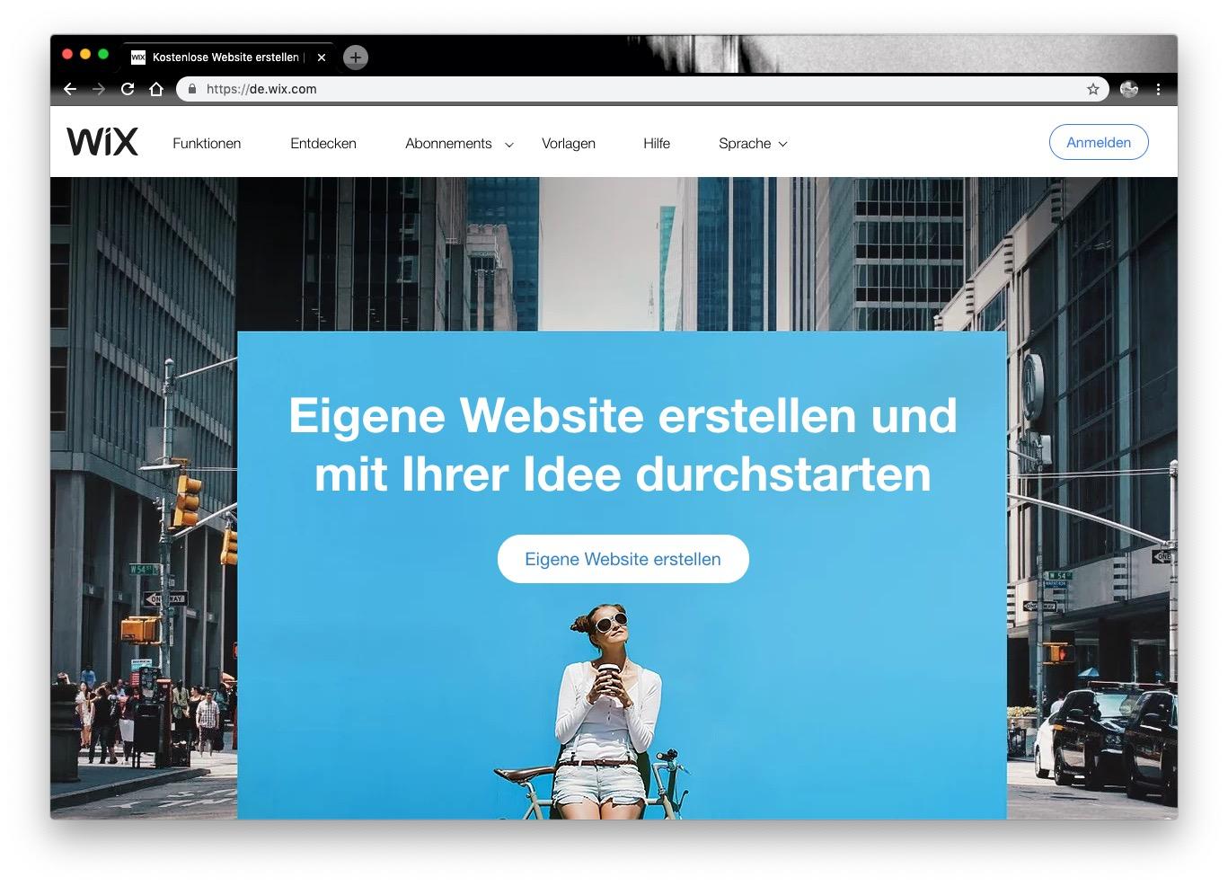 website baukasten eigene Webseite